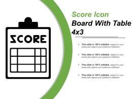 Score Icon Board With Table 4x3