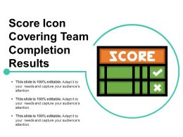 Score Icon Covering Team Completion Results