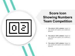 Score Icon Showing Numbers Team Competition
