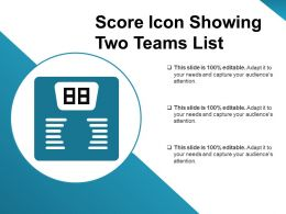 Score Icon Showing Two Teams List