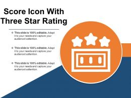Score Icon With Three Star Rating