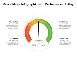 Score Meter Infographic With Performance Rating