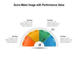 Score Meter Infographic With Performance Value