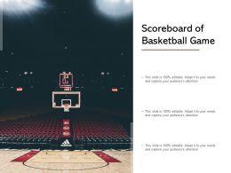 Scoreboard Of Basketball Game