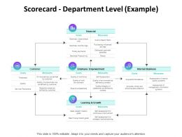 Scorecard Department Level Example Ppt Powerpoint Presentation Model
