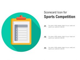 Scorecard Icon For Sports Competition