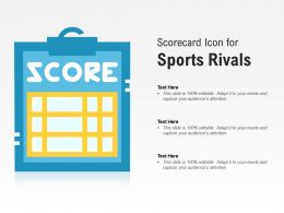 Scorecard Icon For Sports Rivals