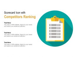 Scorecard Icon With Competitors Ranking