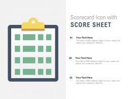 Scorecard Icon With Score Sheet