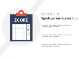 Scorecard Of Sportsperson Scores Icon