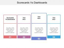 Scorecards Vs Dashboards Ppt Powerpoint Presentation File Formats Cpb