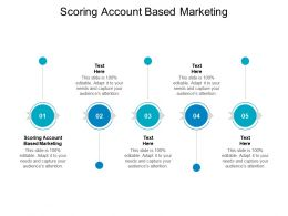 Scoring Account Based Marketing Ppt Powerpoint Presentation Microsoft Cpb