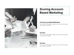 Scoring Account Based Marketing Ppt Powerpoint Presentation Summary Inspiration Cpb