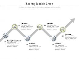 Scoring Models Credit Ppt Powerpoint Presentation Professional Ideas Cpb