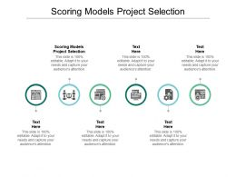 Scoring Models Project Selection Ppt Powerpoint Presentation Example Cpb