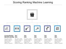 Scoring Ranking Machine Learning Ppt Powerpoint Presentation Model Layout Ideas Cpb