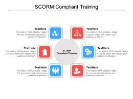 SCORM Compliant Training Ppt Powerpoint Presentation Slides Designs Download Cpb