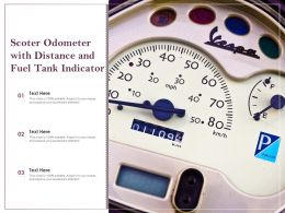 Scoter Odometer With Distance And Fuel Tank Indicator