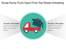 Scrap Dump Truck Open From Top Waste Unloading