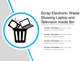 Scrap Electronic Waste Showing Laptop And Television Inside Bin