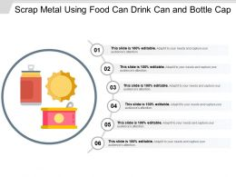 Scrap Metal Using Food Can Drink Can And Bottle Cap