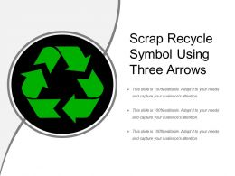 Scrap Recycle Symbol Using Three Arrows