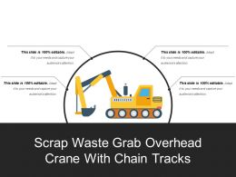Scrap Waste Grab Overhead Crane With Chain Tracks