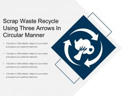 Scrap Waste Recycle Using Three Arrows In Circular Manner