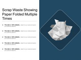 Scrap Waste Showing Paper Folded Multiple Times