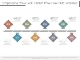 Scrapbooking Photo Book Timeline Powerpoint Slide Templates