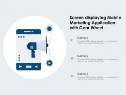 Screen Displaying Mobile Marketing Application With Gear Wheel