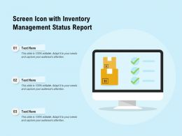 Screen Icon With Inventory Management Status Report