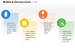 Screen Protection Memory Card Phone Holders Bluetooth Headset Ppt Icons Graphics