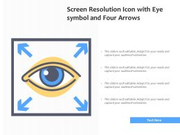 Screen Resolution Icon With Eye Symbol And Four Arrows