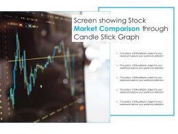 Screen Showing Stock Market Comparison Through Candle Stick Graph