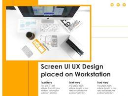 Screen Ui Ux Design Placed On Workstation