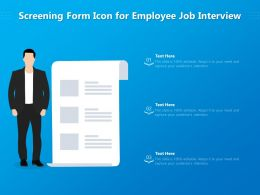 Screening Form Icon For Employee Job Interview