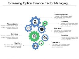 Screening Option Finance Factor Managing Business Risk Increasing Competitiveness