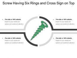 Screw Having Six Rings And Cross Sign On Top