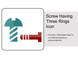 Screw Having Three Rings Icon