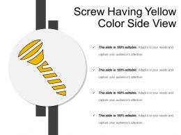 Screw Having Yellow Color Side View