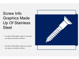 Screw Info Graphics Made Up Of Stainless Steel