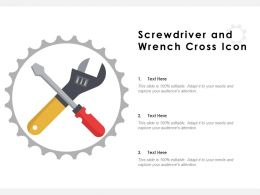 Screwdriver And Wrench Cross Icon