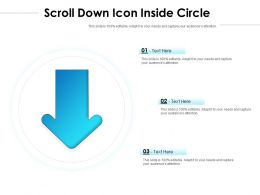 Scroll Down Icon Inside Circle