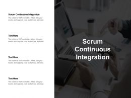 Scrum Continuous Integration Ppt Powerpoint Presentation Inspiration Graphics Design Cpb