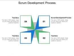 Scrum Development Process Ppt Powerpoint Presentation Pictures Samples Cpb