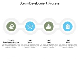 Scrum Development Process Ppt Powerpoint Presentation Template Influencers Cpb