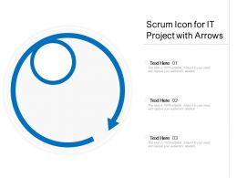 Scrum Icon For It Project With Arrows