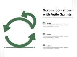 Scrum Icon Shown With Agile Sprints