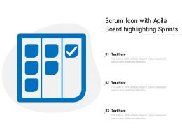 Scrum Icon With Agile Board Highlighting Sprints
